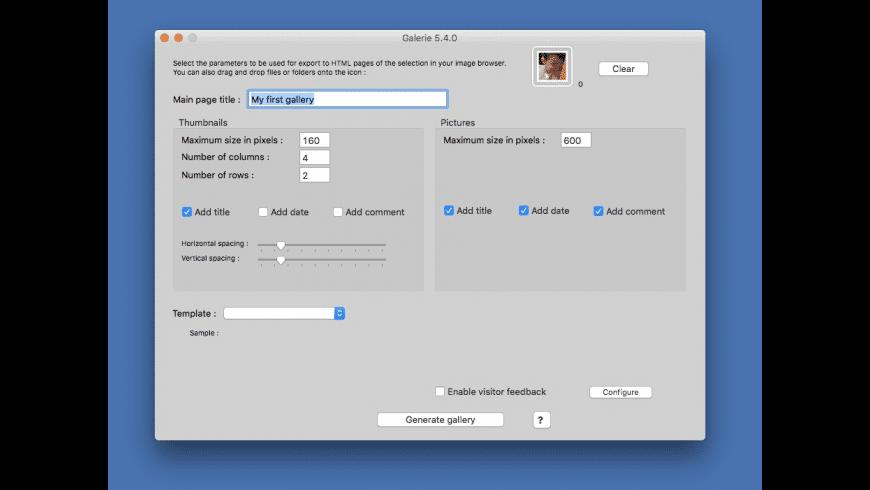 Galerie for Mac - review, screenshots