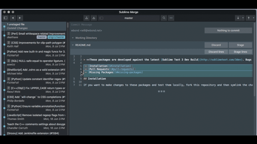 Sublime Merge for Mac - review, screenshots
