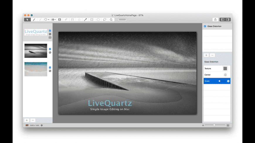 LiveQuartz Photo Edit Lite for Mac - review, screenshots