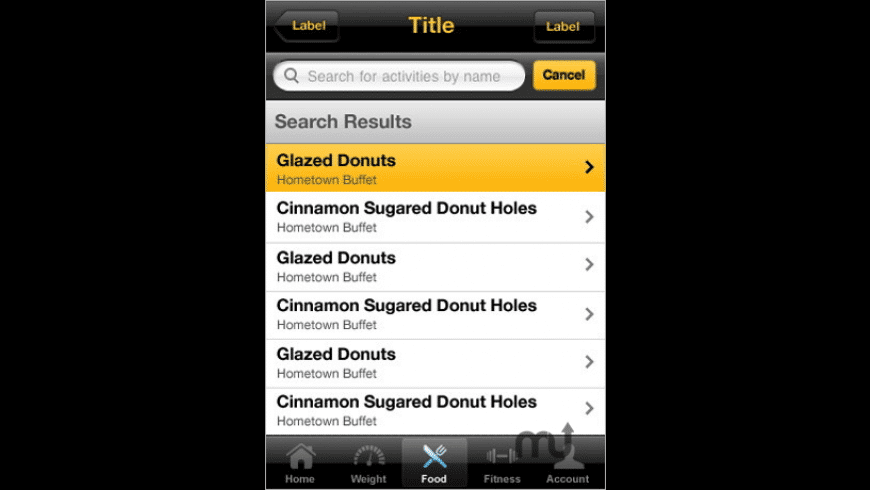LIVESTRONG.COM Calorie Tracker for Mac - review, screenshots