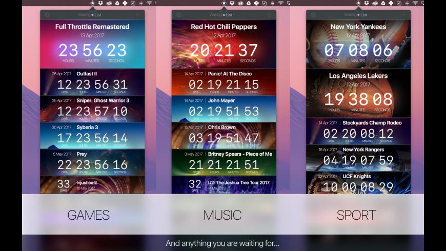 WaitingList for Mac - review, screenshots