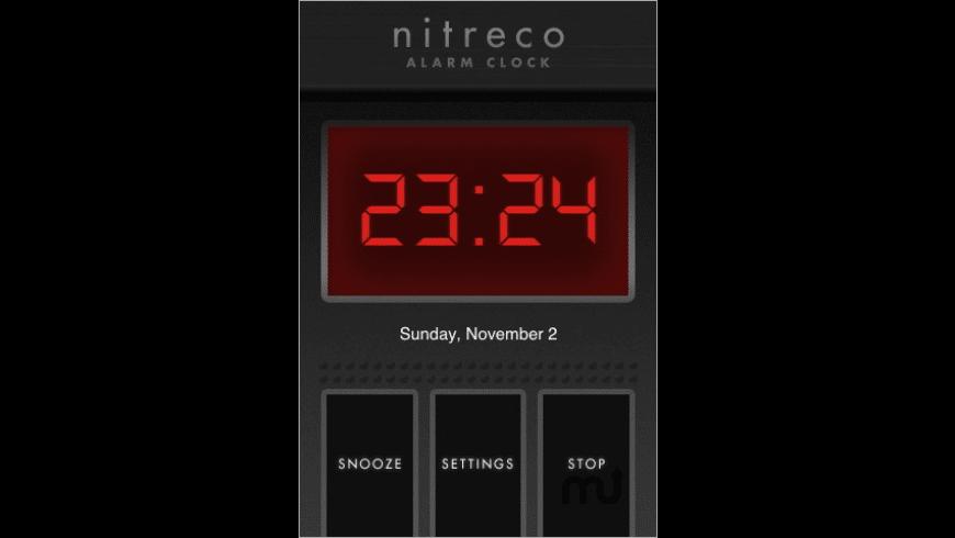Nitreco - Alarm Clock for Mac - review, screenshots