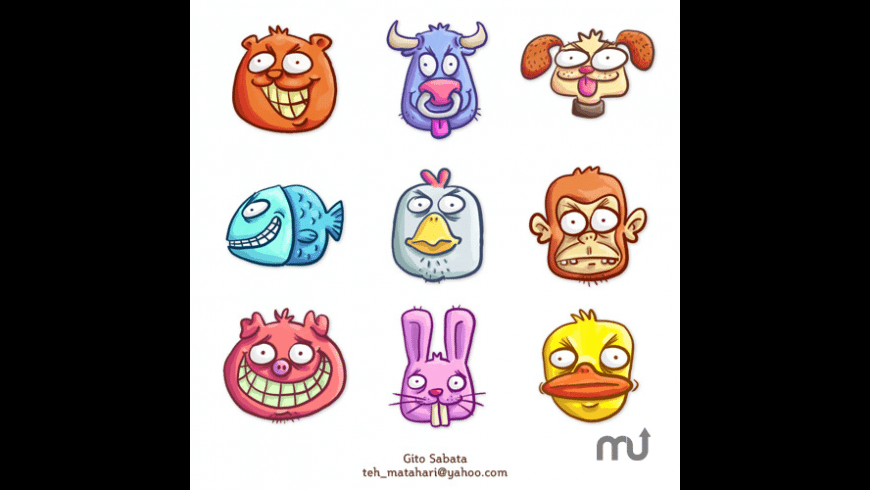 9 Loony Animals Icon Pack for Mac - review, screenshots