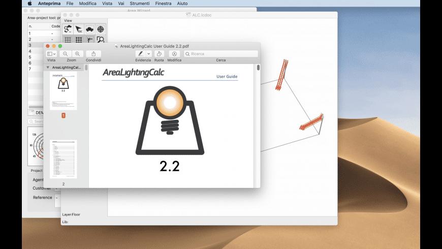 Area Lighting Calc for Mac - review, screenshots