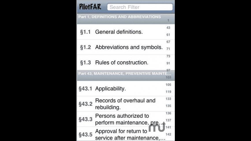 PilotFAR for Mac - review, screenshots