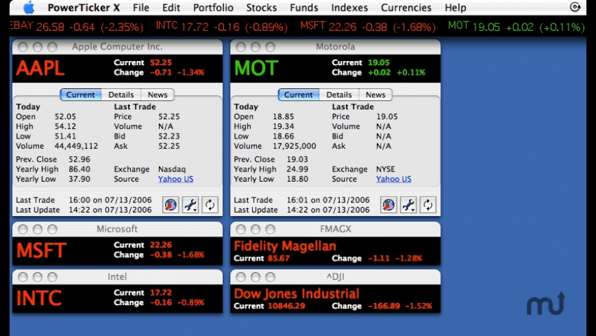 PowerTicker X for Mac - review, screenshots