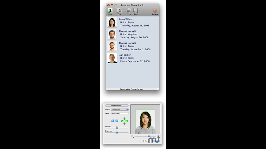 Passport Photo Studio for Mac - review, screenshots