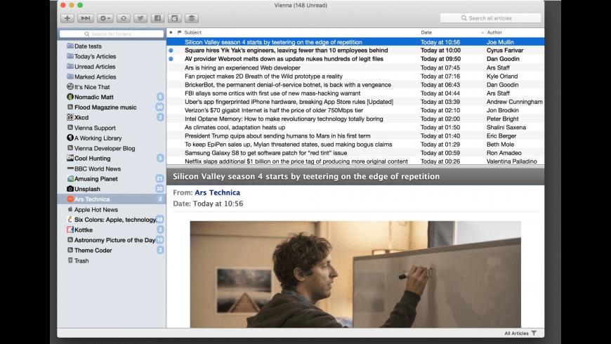Vienna for Mac - review, screenshots