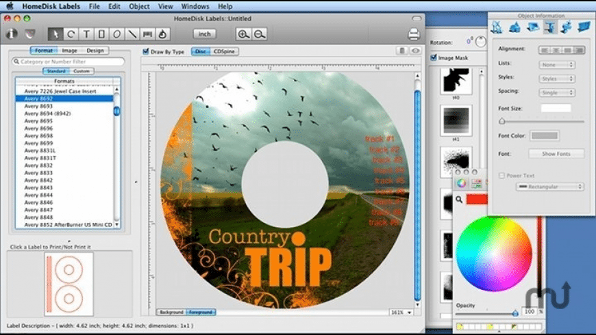 Home Disc Labels for Mac - review, screenshots