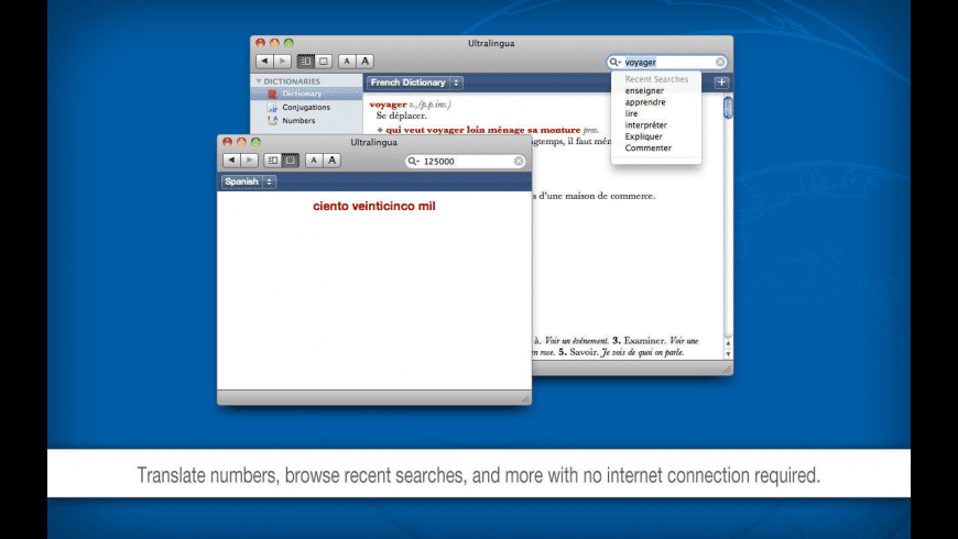 Ultralingua Dictionaries for Mac - review, screenshots
