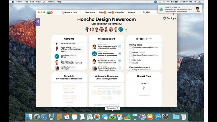 Basecamp 3 for Mac - review, screenshots