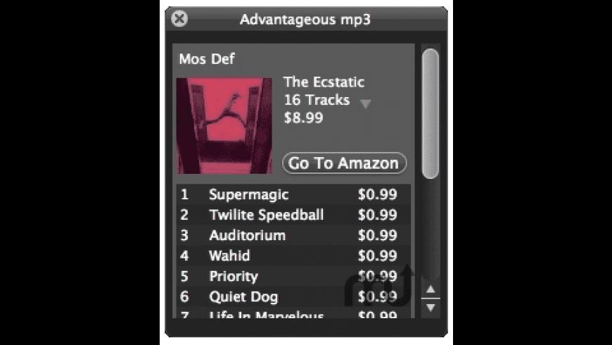 Advantageous mp3 for Mac - review, screenshots