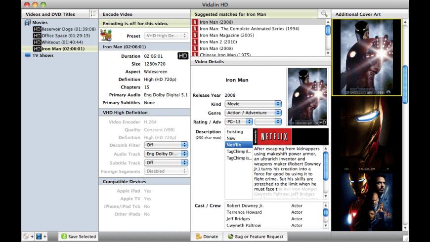 Vidalin for Mac - review, screenshots