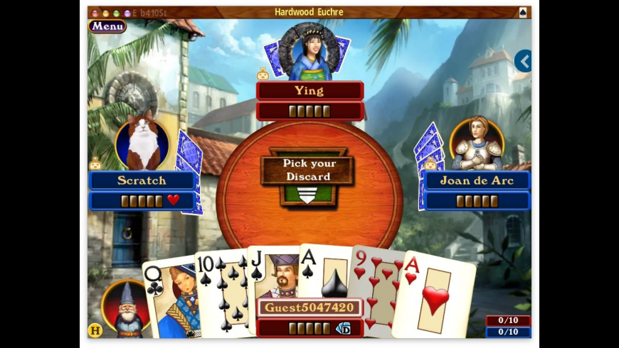 Hardwood Euchre for Mac - review, screenshots