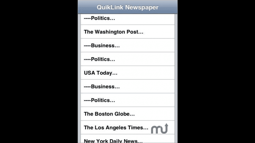 QuikLink: Newspaper (QuickNews) for Mac - review, screenshots