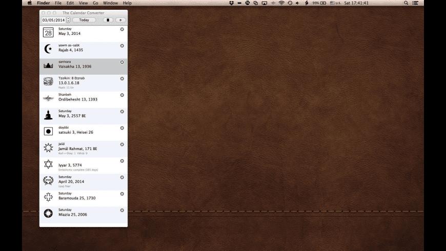 The Calendar Converter for Mac - review, screenshots