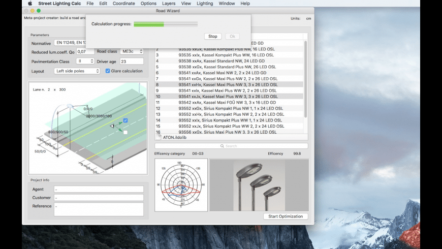 Street Lighting Calc for Mac - review, screenshots