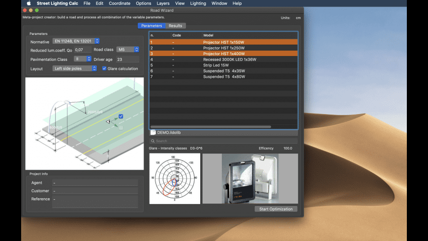 Street Lighting Calc 2 for Mac - review, screenshots
