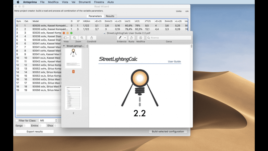 Street Lighting Calc 2 for Mac - review, screenshots