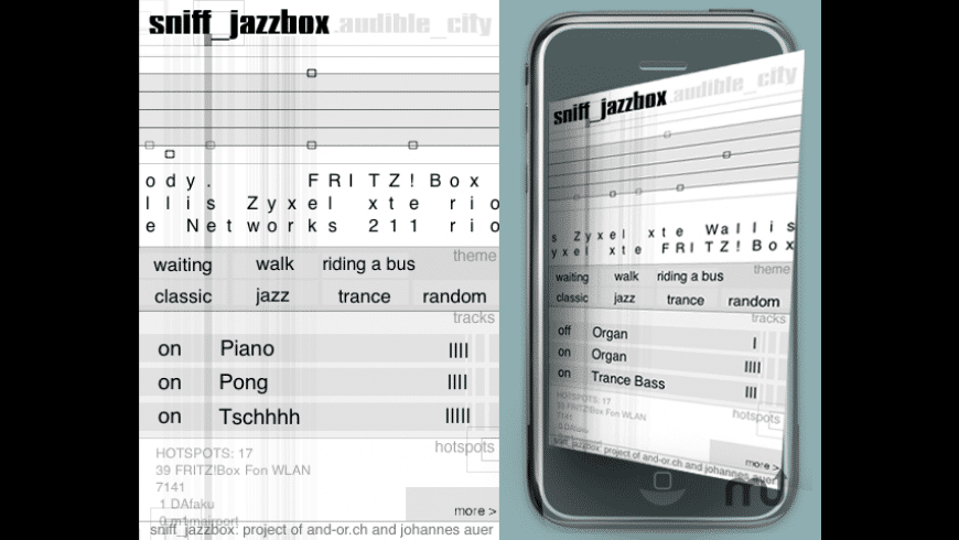 sniff_jazzbox for Mac - review, screenshots