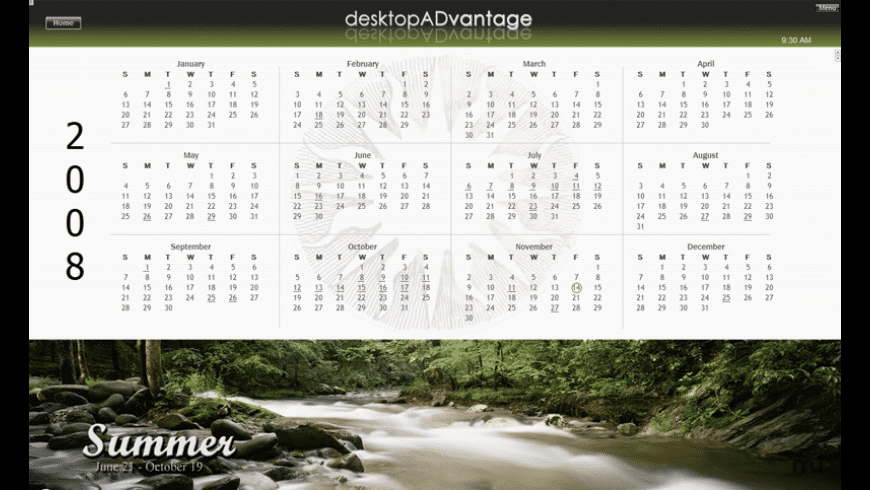 Four Seasons Calendar for Mac - review, screenshots