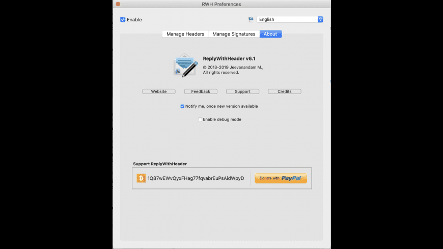 ReplyWithHeader for Mac - review, screenshots