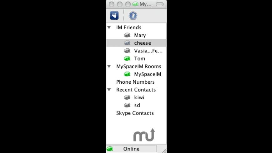 MySpaceIM for Mac - review, screenshots