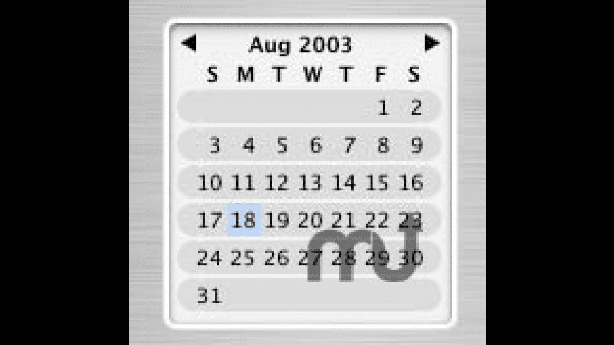 CalendarControl for Mac - review, screenshots