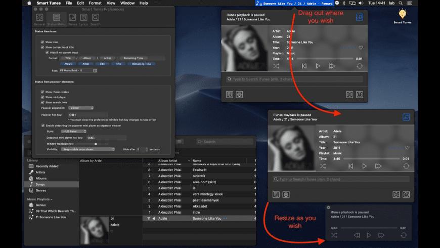 Smart Tunes for Mac - review, screenshots