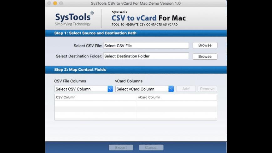 CSV to vCard Converter for Mac - review, screenshots