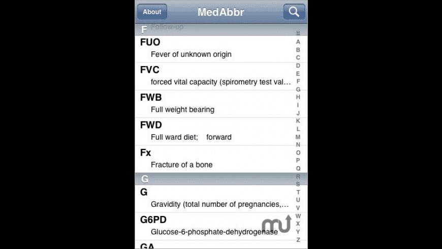 Medical Abbreviations for Mac - review, screenshots