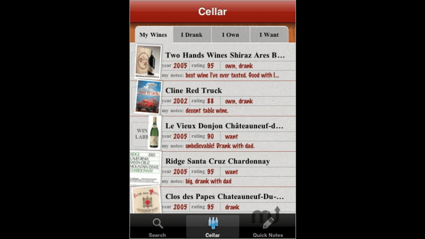Drync Wine for Mac - review, screenshots