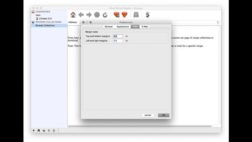 Shop'NCook Reader for Mac - review, screenshots