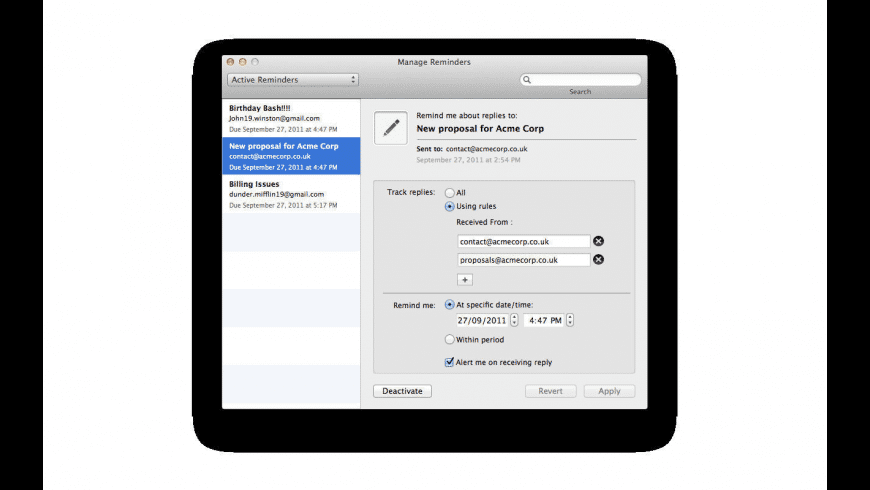 RSVP for Mac - review, screenshots