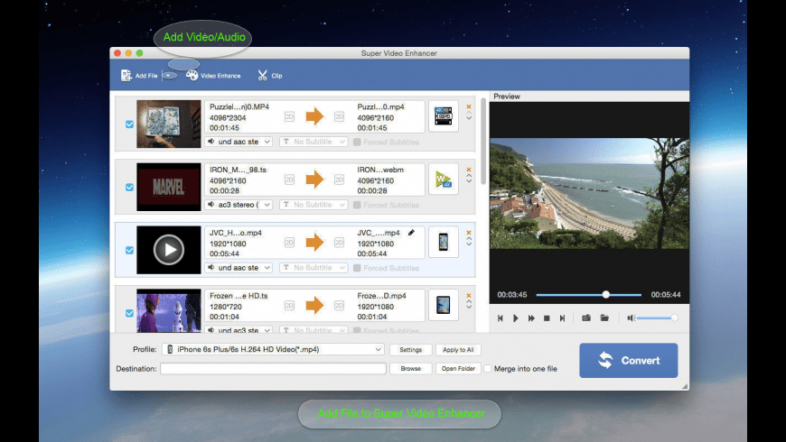 Super Video Editor Enhancer for Mac - review, screenshots