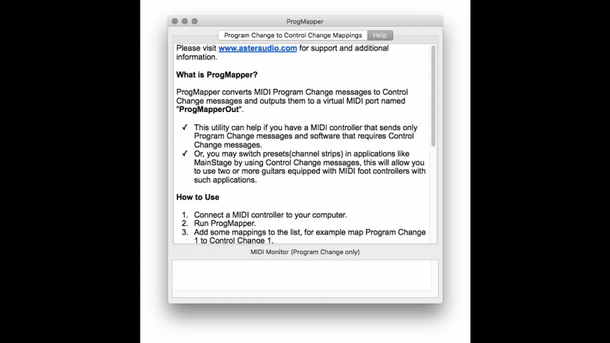 ProgMapper for Mac - review, screenshots