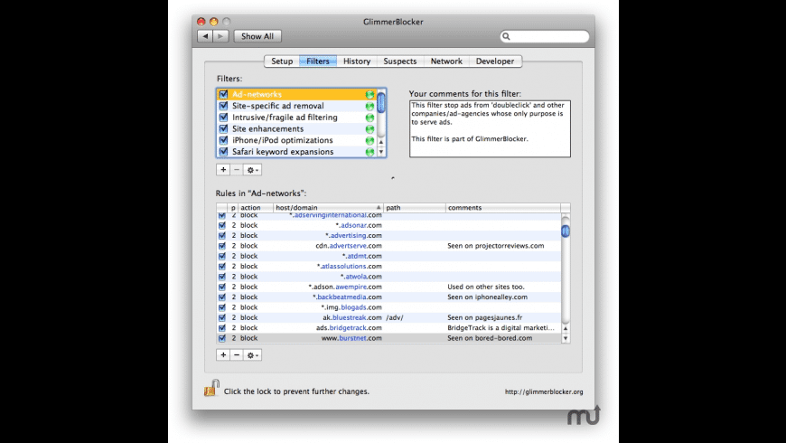 GlimmerBlocker for Mac - review, screenshots