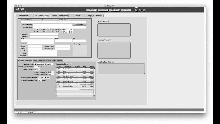 eArtist for Mac - review, screenshots