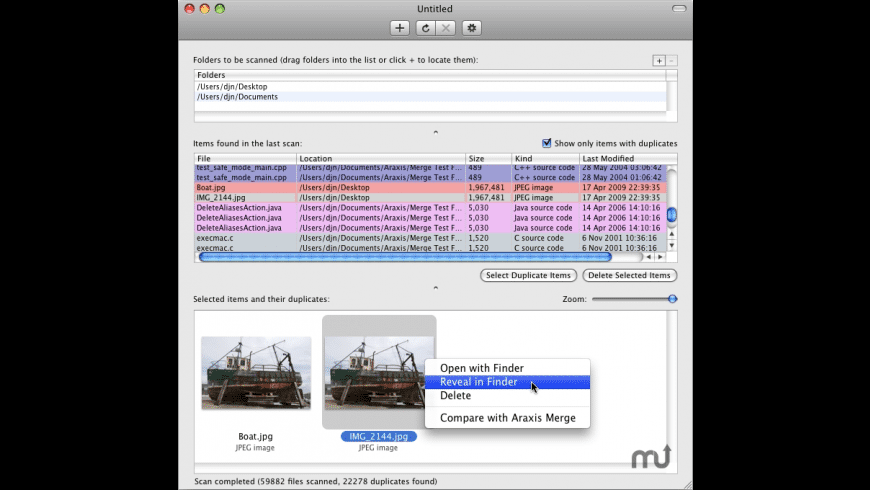 Araxis Find Duplicate Files for Mac - review, screenshots