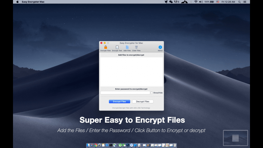 Easy File Encryptor for Mac for Mac - review, screenshots