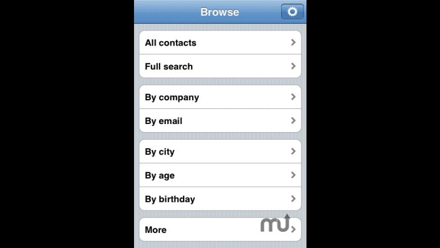 Contact Tool for Mac - review, screenshots