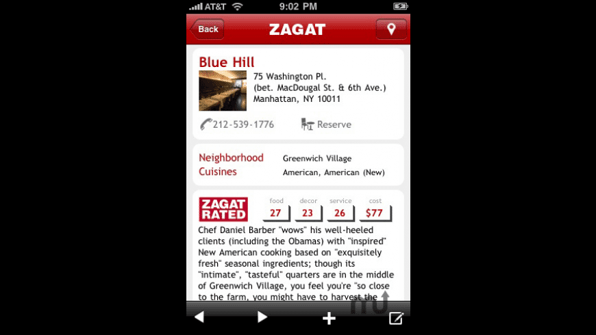 ZAGAT TO GO for Mac - review, screenshots
