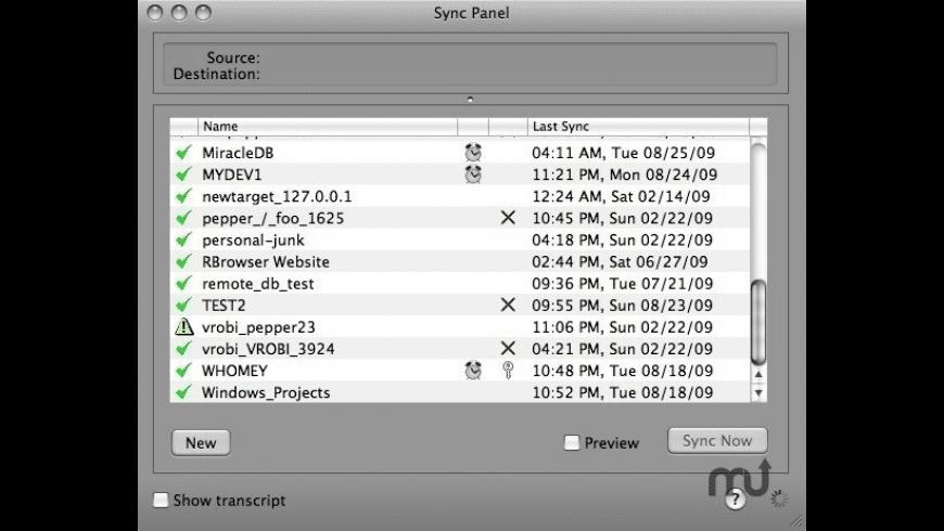 AASync for Mac - review, screenshots