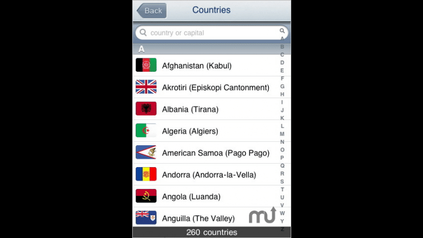 World Countries for Mac - review, screenshots