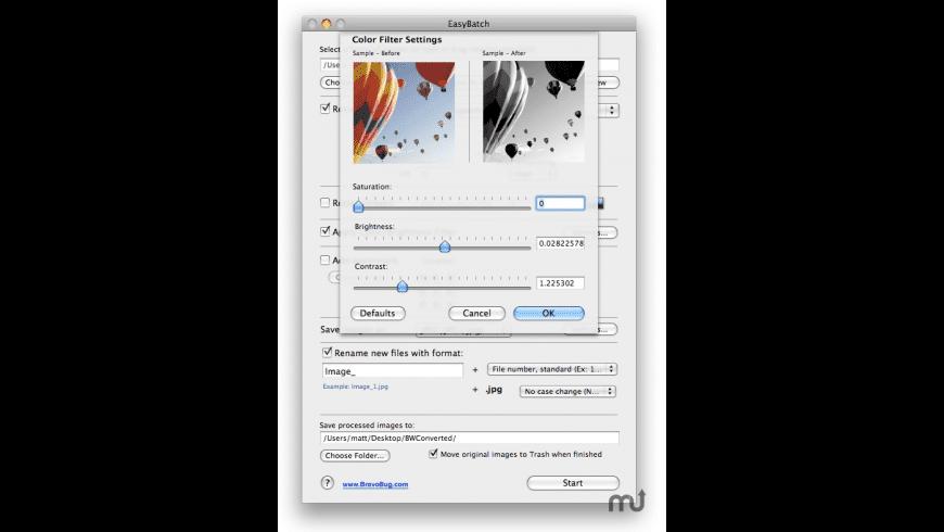 EasyBatch for Mac - review, screenshots