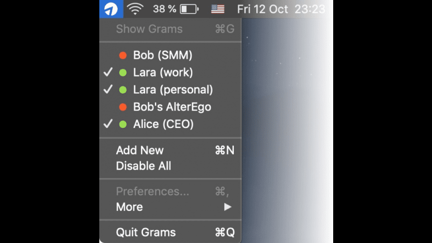 Grams for Mac - review, screenshots