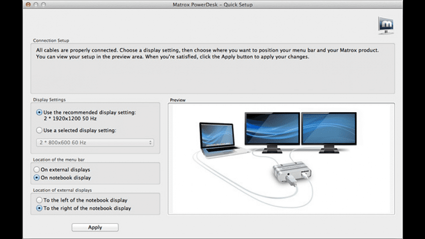 Matrox PowerDesk for Mac - review, screenshots