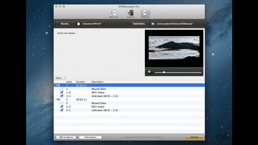 DVDRemaster for Mac - review, screenshots