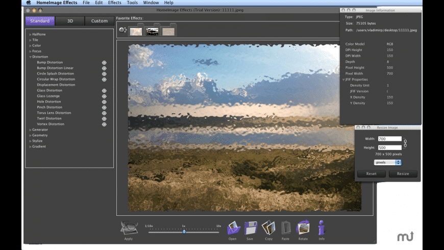 Home Image Effects for Mac - review, screenshots