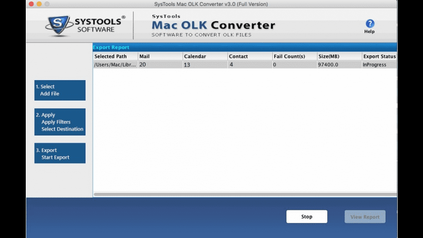 OLK Converter for Mac - review, screenshots